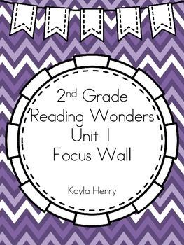 Reading Wonders 2nd Grade Focus Wall Headers and Anchor Charts