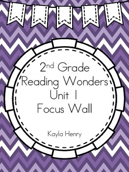 Reading Wonders 2nd Grade Focus Wall Headers and Anchor Charts