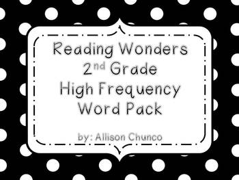 Reading Wonders 2nd Grade High Frequency Word Pack
