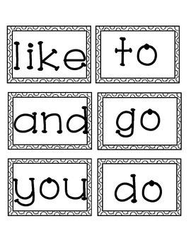 Reading Wonders 2nd Grade Sight Words