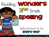 Reading  Wonders 2nd Grade  Spelling Homework for the  Ent