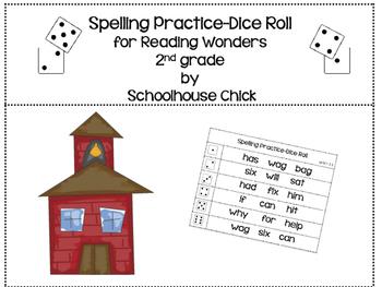 Reading Wonders 2nd Grade Spelling Practice-Dice Roll