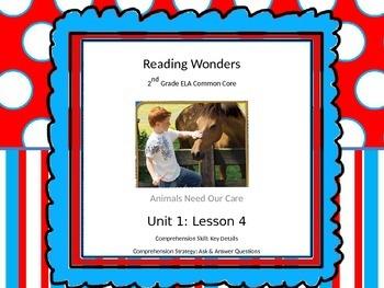 Reading Wonders 2nd Grade Unit 1 Lesson 4