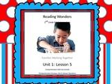 Reading Wonders 2nd Grade Unit 1 Lesson 5