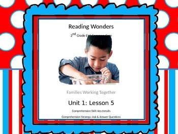 Reading Wonders 2nd Grade Unit 1 Lesson 5