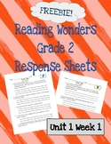 Reading Wonders 2nd Grade Unit 1 Week 1 Response Pages
