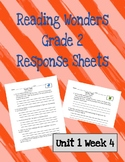 Reading Wonders 2nd Grade Unit 1 Week 4 Response Pages