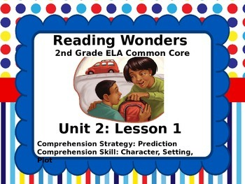 Reading Wonders 2nd Grade Unit 2 Lesson 1