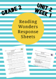 Reading Wonders 2nd Grade Unit 2 Week 1 Response Pages