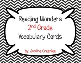 Reading Wonders 2nd Grade Vocabulary Cards ALL 6 Units