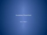 Reading Wonders 2nd Grade Vocabulary PowerPoint Unit 1, Week 1 FREE