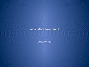 Reading Wonders 2nd Grade Vocabulary PowerPoint Unit 1, Week 2