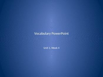 Reading Wonders 2nd Grade Vocabulary PowerPoint Unit 1, Week 4