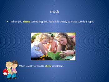 Reading Wonders 2nd Grade Vocabulary PowerPoint Unit 1, Week 5