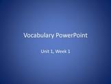 Reading Wonders 2nd Grade Vocabulary PowerPoint Unit 1 Weeks 1-5 BUNDLE