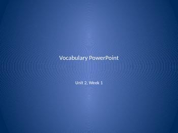Reading Wonders 2nd Grade Vocabulary PowerPoint Unit 2, Week 1