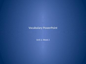 Reading Wonders 2nd Grade Vocabulary PowerPoint Unit 2, Week 2