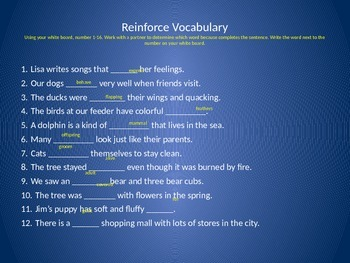 Reading Wonders 2nd Grade Vocabulary PowerPoint Unit 2, Week 5