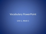 Vocabulary PowerPoints to use with Reading Wonders Unit 2 Weeks 1-5 BUNDLE