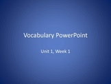 Vocabulary PowerPoints to use with Reading Wonders Unit 4 Weeks 1-5 BUNDLE