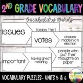 Reading Wonders 2nd Grade Vocabulary Puzzles Units 5- Units 6 (McGraw Hill)