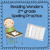 Reading Wonders 2nd grade Spelling Practice