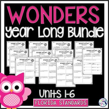 Reading Wonders Units 1-6 Const. Response Worksheets Bundle - Gr. 3 - Fla. LAFS