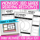 Reading Wonders 3rd Gr Constructed Response Worksheets Bundle Unit 4-6