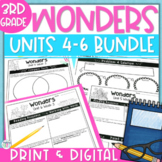 Reading Wonders Units 4-6 Constructed Response Worksheets Bundle - Grade 3