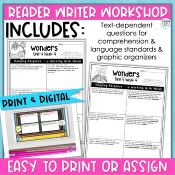 Reading Wonders Units 4-6 Constructed Response Worksheets Bundle - Grade 3