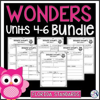 Reading Wonders 3rd Gr Const. Response Worksheets Bundle Unit 4-6 - Florida LAFS