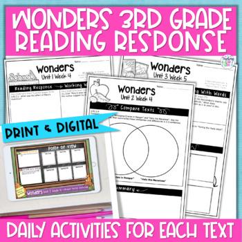 Reading Wonders 3rd Gr Const.Response Bundle Pk Unit 1-3 - Common Core