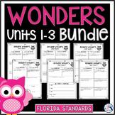 Wonders 3rd Grade Units 1-3 Florida
