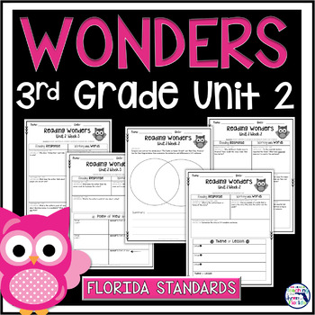 Reading Wonders 3rd Grade Constructed Response Unit 2 - Florida LAFS