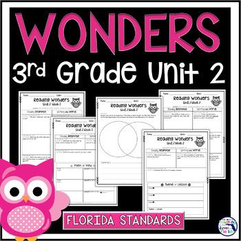 Reading Wonders 3rd Grade Constructed Response Worksheets Unit 2 - Florida LAFS