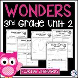 Reading Wonders Unit 2 Constructed Response Worksheets - Gr. 3 - Fla. LAFS