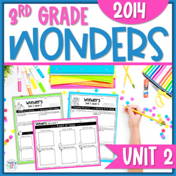 Reading Wonders 3rd Grade Constructed Response Unit 2 - Common Core