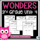 Reading Wonders Unit 4 Const. Response Worksheets - Gr. 3 - Fla. LAFS