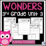 Reading Wonders Unit 3 Constructed Response Worksheets - Gr. 3 - Fla. LAFS