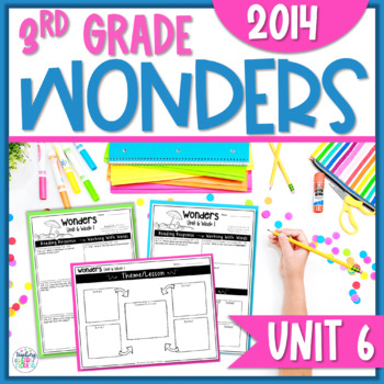 Reading Wonders Unit 6 Constructed Response Worksheets - Grade 3