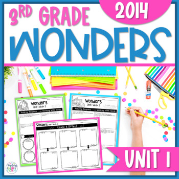 Reading Wonders 3rd Grade Constructed Response Worksheets Unit 1 - Common Core