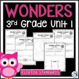Reading Wonders Unit 1 Constructed Response Worksheets - Gr. 3 - Fla. LAFS