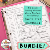 Reading Wonders - 3rd Grade UNIT 1-6 Newsletters BUNDLE