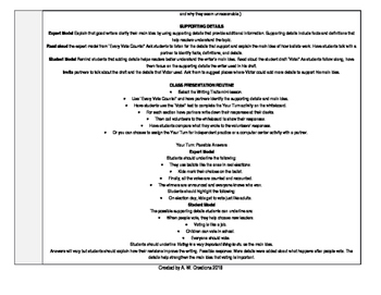 McGraw-Hill Reading Wonders 3rd Grade UNIT 2 WEEK 3 Whole Group Plans
