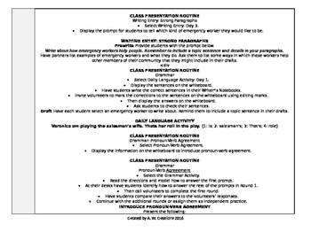 McGraw-Hill Reading Wonders 3rd Grade UNIT 5 WEEK 3 Whole Group Plans