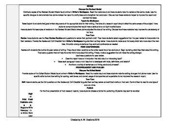McGraw-Hill Reading Wonders 3rd Grade UNIT 6 WEEK 6 Whole Group Plans