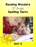 Reading Wonders 3rd Grade Unit 2 Spelling Tests