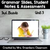 Reading Wonders 3rd Grade Unit 3 Grammar