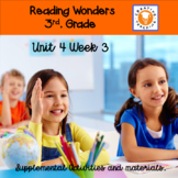 Reading Wonders 3rd Grade Unit 4 Week 3 Supplemental Activities.