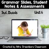 Reading Wonders 3rd Grade Unit 6 Grammar Bundle